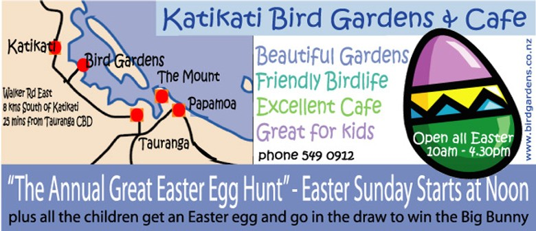 The Katikati Bird Gardens Annual Great Easter Egg Hunt
