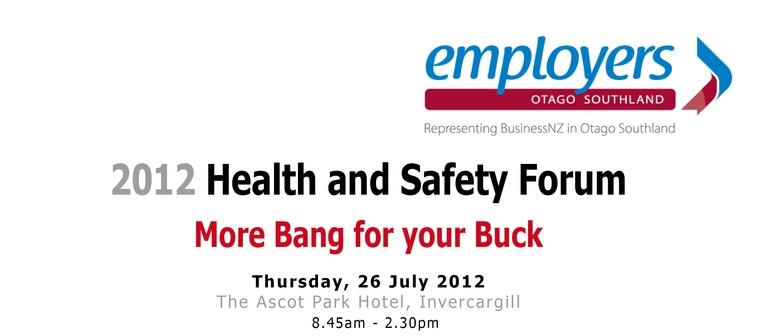 2012 Health & Safety Forum
