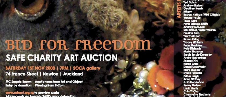 Bid For Freedom: SAFE Charity Art Auction