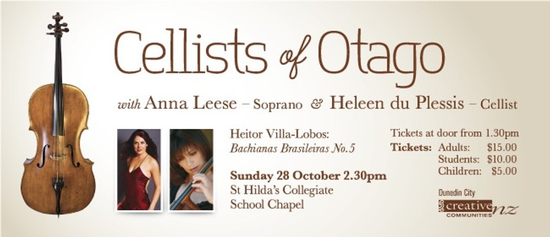 Cellists of Otago with Anna Leese