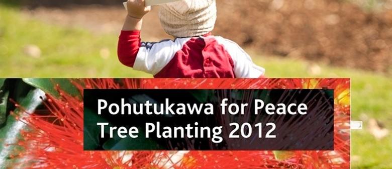 Pohutukawa for Peace Tree Planting