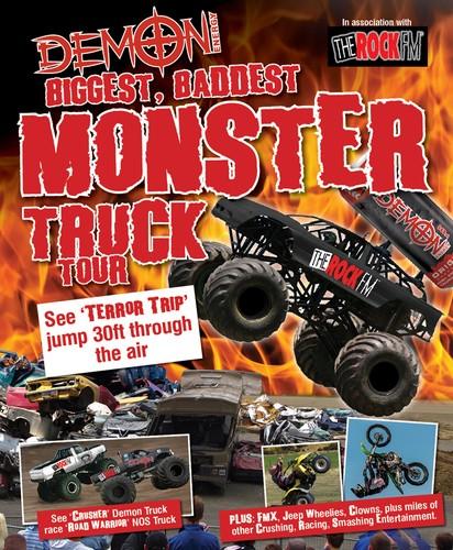 Demon Energy And Rockfm Monster Truck Stunt Explosion Tour Mt
