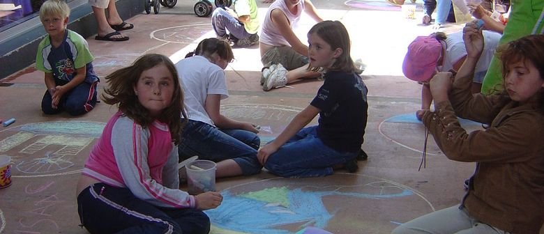 Funky Art Pavement Drawing - Paihia Summer Festival