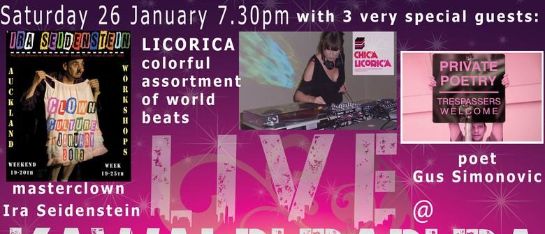 DJ Chica Licorica + Open Mic