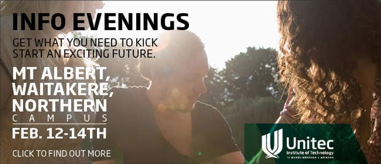 Unitec's Info Evenings