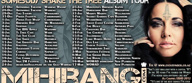 Mihirangi - Somebody Shake the Tree Album Tour