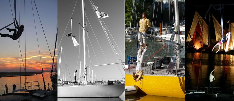 Acrobatic Show On a Sailboat