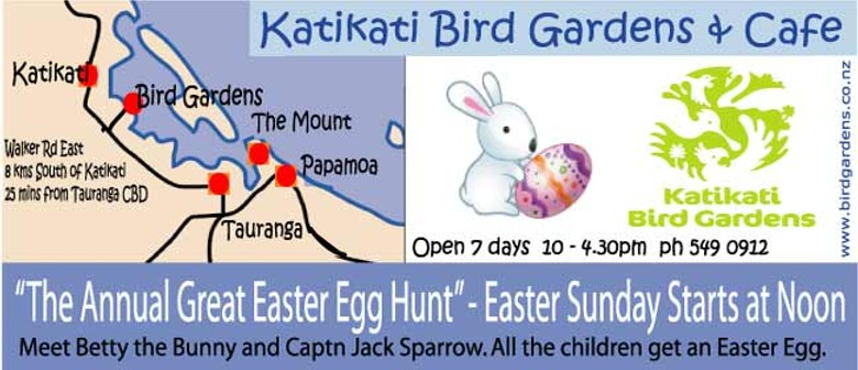 Katikati Bird Gardens Annual Great Easter Egg Hunt