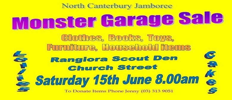 North Canterbury Jamboree Troup Garage Sale