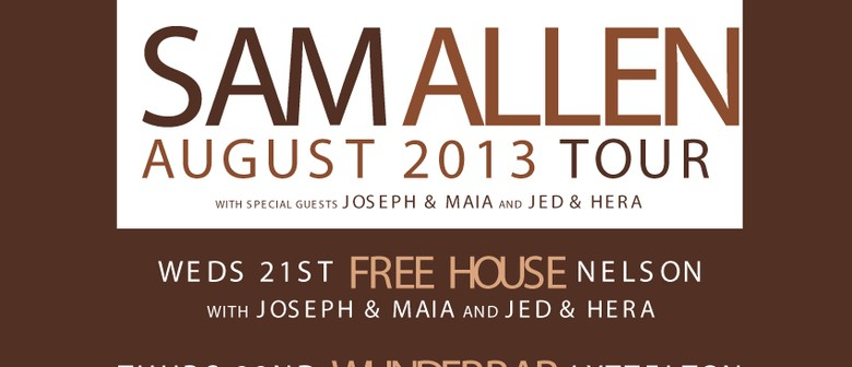 Sam Allen Acoustic Tour with Joseph & Maia and Jed & Hera