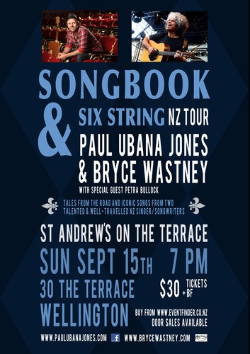 Paul ubana jones bryce wastney songbook 6 string for 50 the terrace wellington