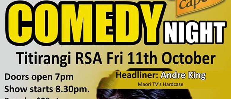 Titirangi Comedy Night feat. Andre King