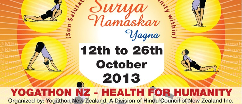 Yogathon NZ West Auckland 2013