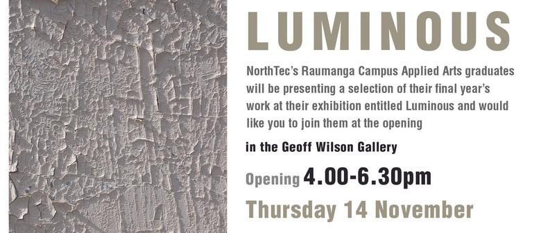 Luminous: Year 3 Applied Arts Graduate Show