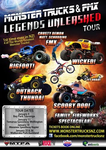 Monster Trucks Fmx Legends Unleashed Tauranga Mt Maunganui