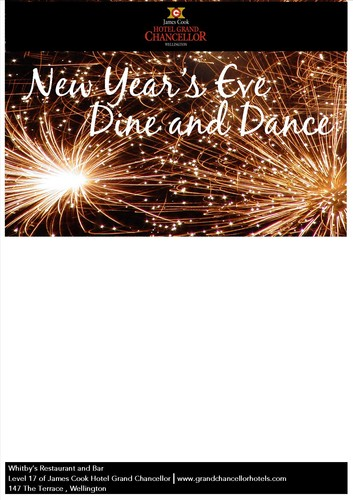 Dine and dance new year 39 s eve wellington eventfinda for 147 the terrace wellington