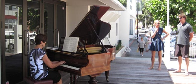 Classical Piano Alfresco on the deck at MTG Hawke's Bay