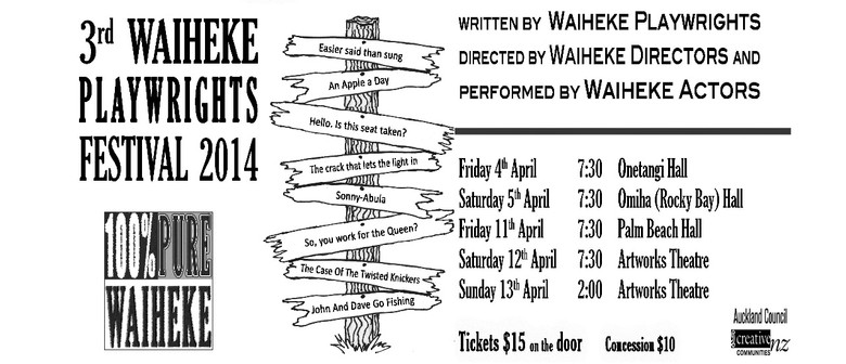 The Third Waiheke Playwrights' Festival