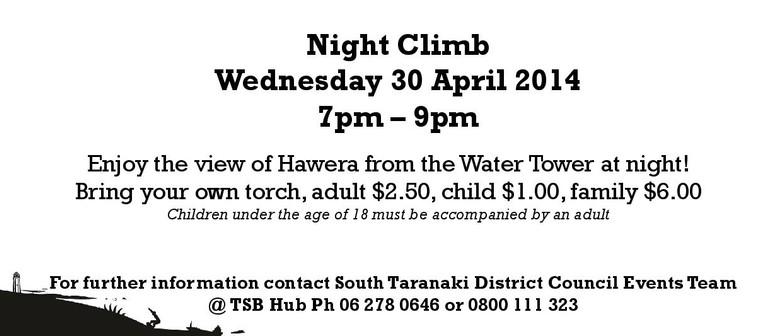 Hawera Water Tower 100 Years Celebrations - Night Climb