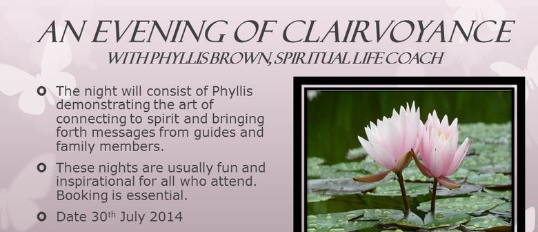 Evening of Clairvoyance: CANCELLED