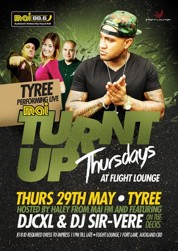 Tyree at Turnt Up Thursdays - Auckland - Eventfinda
