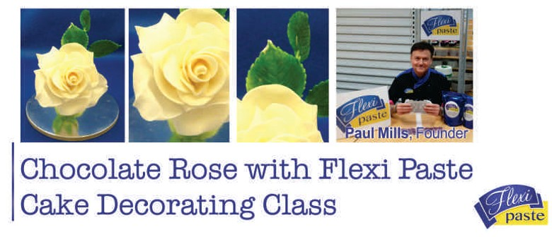 Chocolate Rose with Flexi Paste Cake Decorating Class