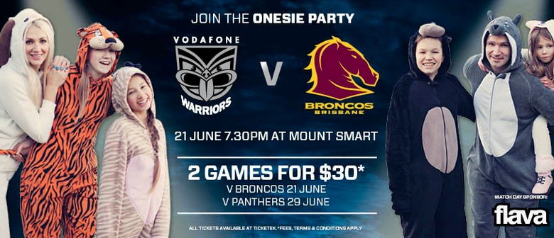 Vodafone Warriors Vs Brisbane Broncos