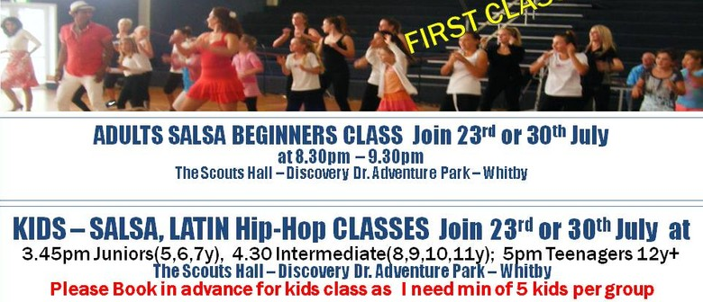 Salsa Latin Classes for Kids & Adults