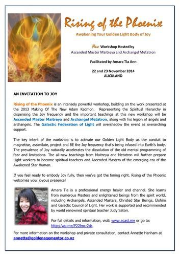 Rising Of The Phoenix -Awaken Your Golden Light Body of Joy