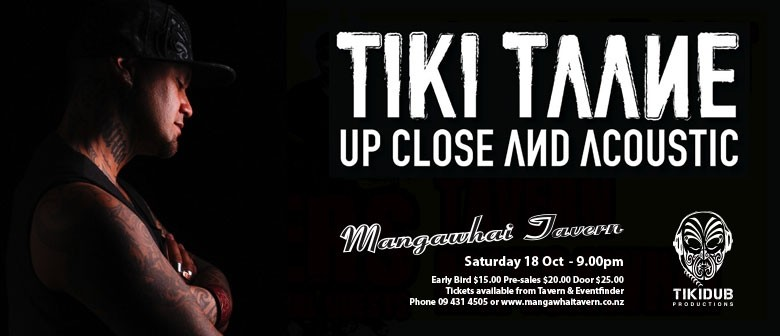 Tiki Taane - Upclose and Acoustic