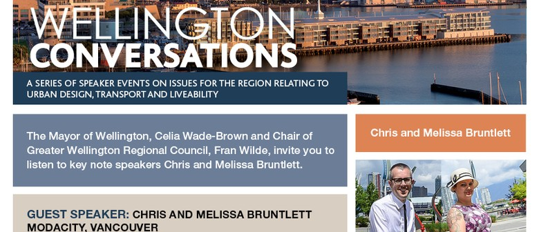 Wellington Conversations: Chris and Melissa Bruntlett