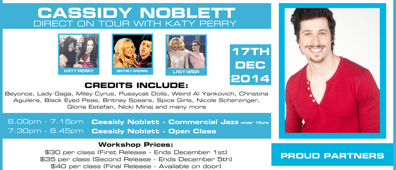 Cassidy Noblett Dance Workshops - On Tour with Katy Perry