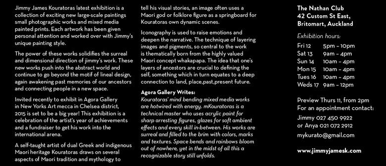 'Kaitiaki' Exhibition from Jimmy James Kouratoras