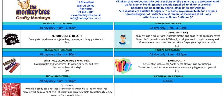 Crafty Monkeys School Holiday Fun