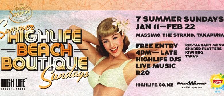 Highlife Beach Boutique Summer Sundays