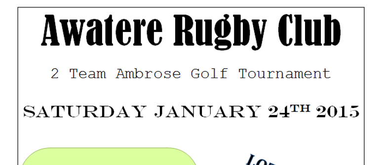 Awatere Rugby Club Golf Tournament