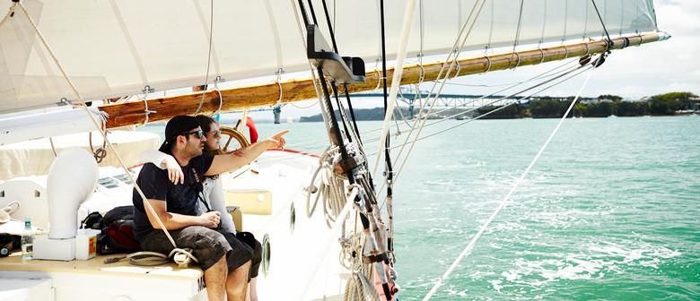 Auckland Anniversary Regatta on board tall ship Breeze