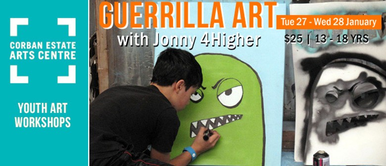Guerilla Art: An Art Workshop for 13 - 18 year olds