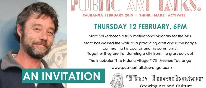 Inspiration Speaker Marc Spijkerbosch - Public Arts Talks No