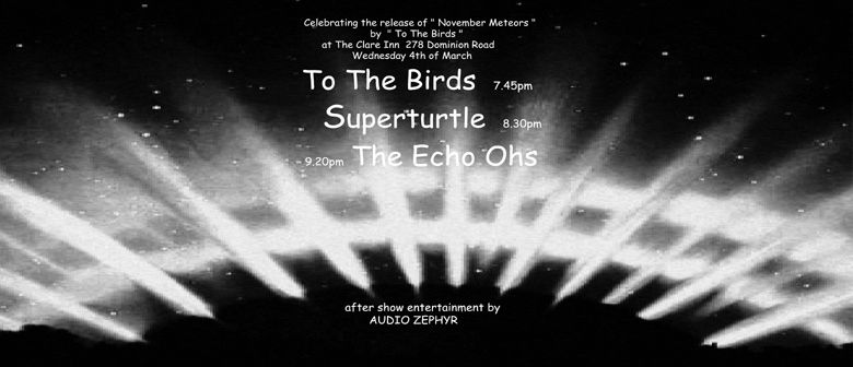 To The Birds Album Release with Superturtle and The Echo Ohs