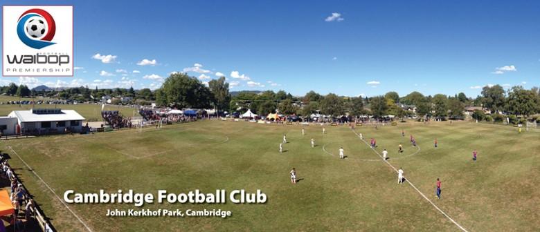 Cambridge v Tauranga City Utd (WaiBOP Premiership Football)