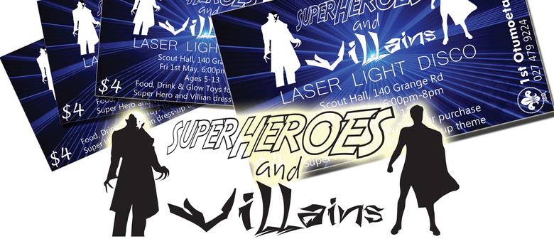Super Hero and Villain Laser Disco (For Children 5-13)