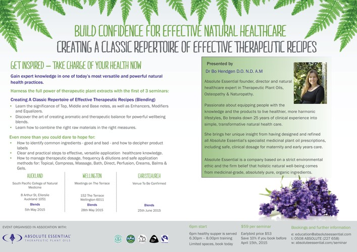 Learn how to blend therapeutic plant extracts wellington for 152 the terrace wellington