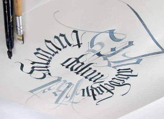 Calligraphy Demonstration With Margaret Woollett
