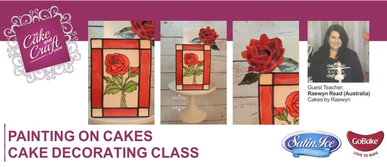 Painting on Cakes with Raewyn Read Cake Decorating Class