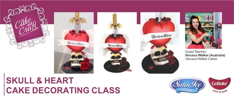 Cake Decorating Course New Zealand : Skull & Heart Cake with Verusca Walker Cake Decorating ...