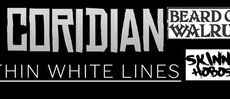 Coridian, Thin White Lines, Skinny Hobos & Beard of Walrus