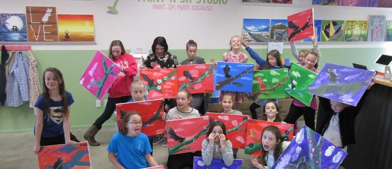 Kids Painting Session - Paint 'n' Sip Studio