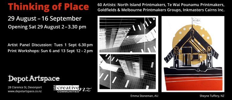 Australian & New Zealand Printmakers: Thinking of Place