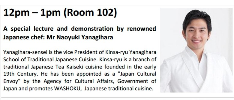 Special Lecture/demonstration By Renowned Japanese Chef